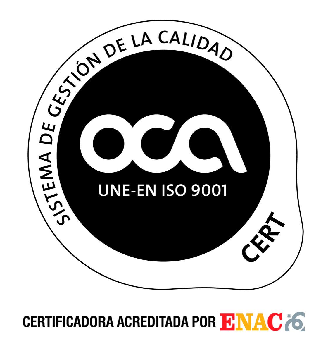 Bemarsa obtiene el certificado UNE-EN ISO 9001